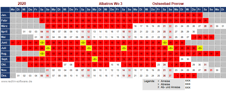 Belegungsplan Haus Albatros Wohnung 3