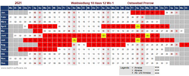 Belegungsplan Waldsiedlung W 12.1